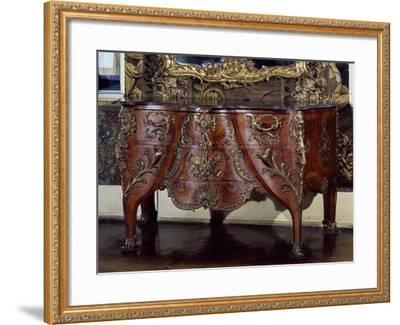 Commode with Bronze Applications-Christian Jacob Preisler-Framed Giclee Print