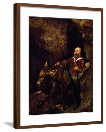 Sancho Panza and His Donkey-Edwin Henry Landseer-Framed Giclee Print
