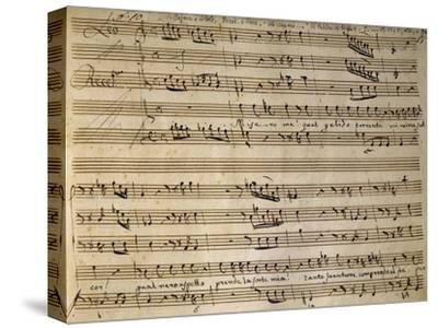 Autograph Music Score of Cain and Abel-Leonardo Leo-Stretched Canvas Print