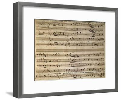 Autograph Music Score of Cain and Abel-Leonardo Leo-Framed Giclee Print