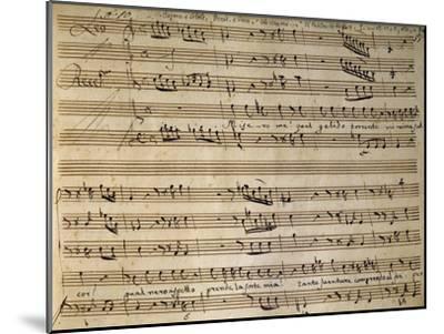 Autograph Music Score of Cain and Abel-Leonardo Leo-Mounted Giclee Print