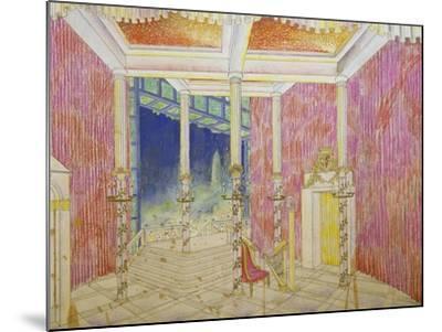 Set Design for Jacobin, Opus 84-Antonin Leopold Dvorak-Mounted Giclee Print