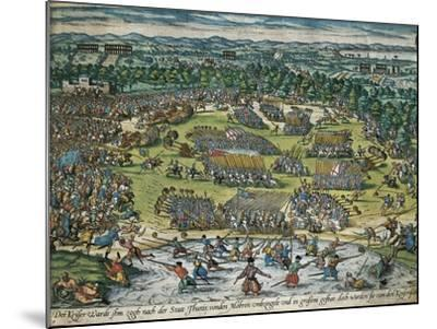 Charles V's Army Against Tunis, 1535-Franz Hogenberg-Mounted Giclee Print