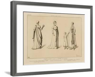 Fashions of the 6th Year, after Le Journal Des Dames-Raphael Jacquemin-Framed Giclee Print