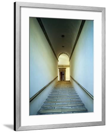 Glimpse of Monumental Staircase of Honor, 1466-1472-Luciano Laurana-Framed Giclee Print