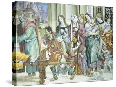 St John the Evangelist Resuscitating Drusiana, 1502-Filippino Lippi-Stretched Canvas Print