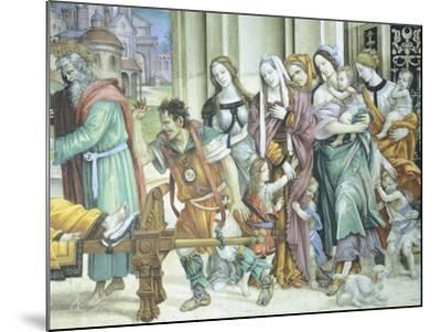 St John the Evangelist Resuscitating Drusiana, 1502-Filippino Lippi-Mounted Giclee Print