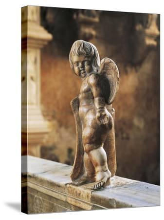 Cherub Coat-Of-Arms Holder-Agostino Di Duccio-Stretched Canvas Print