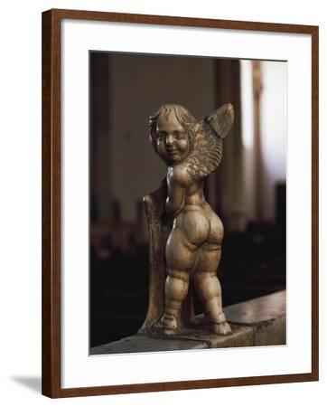 Cherub Coat-Of-Arms Holder-Agostino Di Duccio-Framed Giclee Print