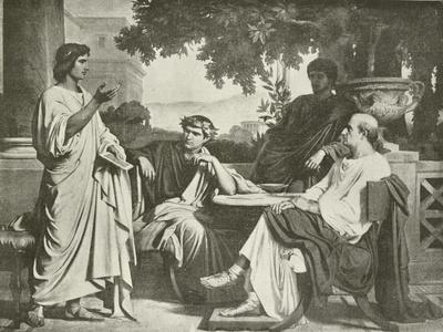 Virgil, Horace and Varius at the House of Maecenas-Charles Francois Jalabert-Framed Giclee Print