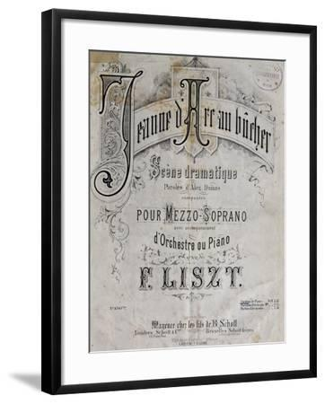 Title Page of Score for Joan of Arc at Stake-Franz Liszt-Framed Giclee Print