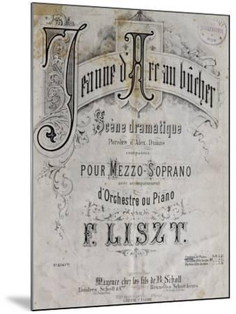 Title Page of Score for Joan of Arc at Stake-Franz Liszt-Mounted Giclee Print