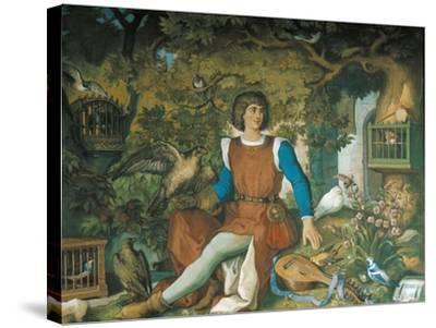 Portrait of Walther Von Der Vogelweide, from the Tannhauser Saga-Eduard Ille-Stretched Canvas Print