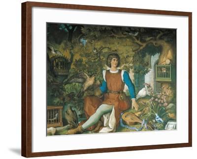 Portrait of Walther Von Der Vogelweide, from the Tannhauser Saga-Eduard Ille-Framed Giclee Print