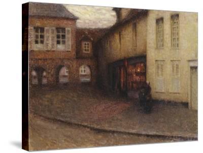 The Little Shop, Gerberoy; La Petit Boutique, Gerberoy, C.1906-Henri Eugene Augustin Le Sidaner-Stretched Canvas Print