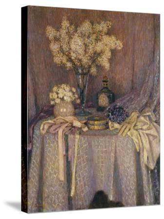The Table, Purple Harmony; La Table, Harmonie Mauve, 1927-Henri Eugene Augustin Le Sidaner-Stretched Canvas Print