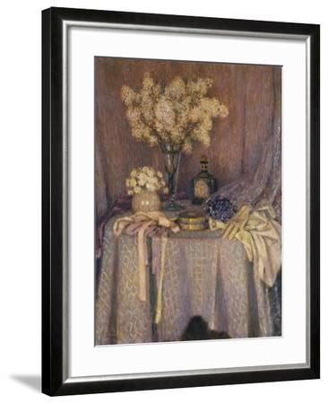 The Table, Purple Harmony; La Table, Harmonie Mauve, 1927-Henri Eugene Augustin Le Sidaner-Framed Giclee Print