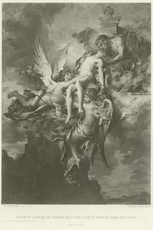 Sarpedon Carried to Jupiter from the Plain of Troy by Sleep and Death-Henri Leopold Levy-Stretched Canvas Print