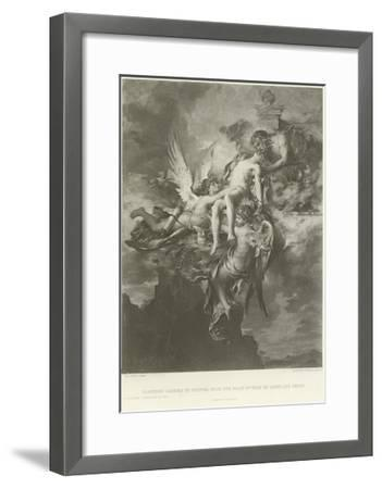 Sarpedon Carried to Jupiter from the Plain of Troy by Sleep and Death-Henri Leopold Levy-Framed Giclee Print
