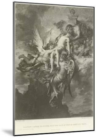 Sarpedon Carried to Jupiter from the Plain of Troy by Sleep and Death-Henri Leopold Levy-Mounted Giclee Print