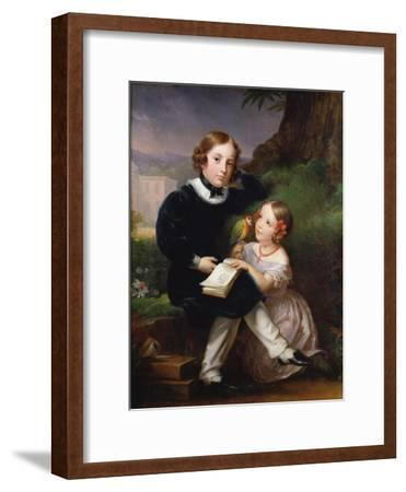 Portrait of the Children of Pierre-Jean David D'Angers-Marie Eleonore Godefroid-Framed Giclee Print