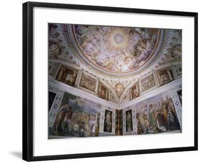 Hall of Angels, with Ceiling Frescoes-Giovanni De Vecchi-Framed Giclee Print