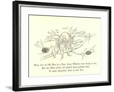 There Was an Old Man in a Tree, Whose Whiskers Were Lovely to See-Edward Lear-Framed Giclee Print