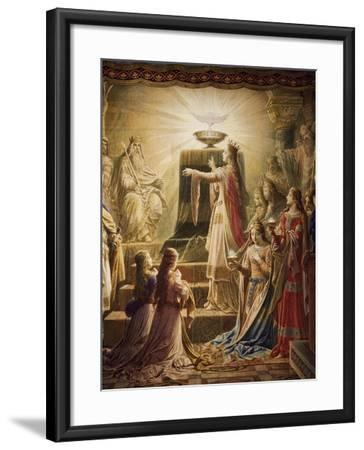 The Temple of the Holy Grail, Lohengrin Mural Cycle-Wilhelm Hauschild-Framed Giclee Print