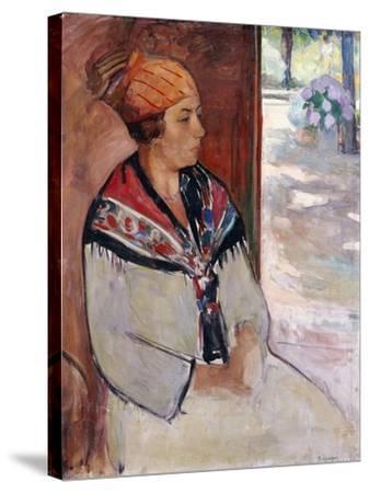Woman in a Bandana at Prefailles; Femme Au Madras a Prefailles, 1922-Henri Lebasque-Stretched Canvas Print