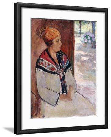 Woman in a Bandana at Prefailles; Femme Au Madras a Prefailles, 1922-Henri Lebasque-Framed Giclee Print