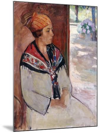 Woman in a Bandana at Prefailles; Femme Au Madras a Prefailles, 1922-Henri Lebasque-Mounted Giclee Print