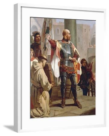 Dedication of Trieste to Austria-Cesare Dell'acqua-Framed Giclee Print