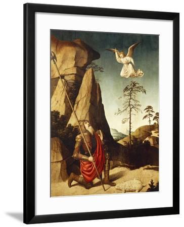 The Miracle of Fleece of Gideon, 1500-Nicolas Dipre-Framed Giclee Print