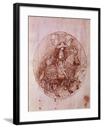 Design of Alfonso of Aragon's Medal-Antonio Pisanello-Framed Giclee Print