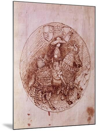 Design of Alfonso of Aragon's Medal-Antonio Pisanello-Mounted Giclee Print