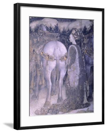 St George and the Princess, 1433-1435-Antonio Pisanello-Framed Giclee Print