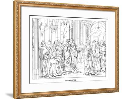The Death of Henry of Meissen, Named Frauenlob-Alfred Rethel-Framed Giclee Print