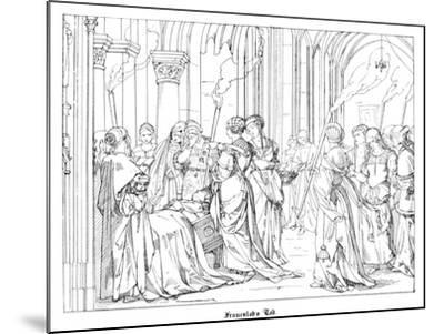 The Death of Henry of Meissen, Named Frauenlob-Alfred Rethel-Mounted Giclee Print