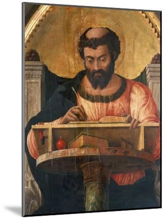 St Luke at His Desk, Detail from Altarpiece of St Luke-Andrea Mantegna-Mounted Giclee Print