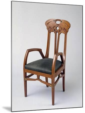 Armchair, Part of a Room Exhibited in Milan in 1906-Eugenio Quarti-Mounted Giclee Print