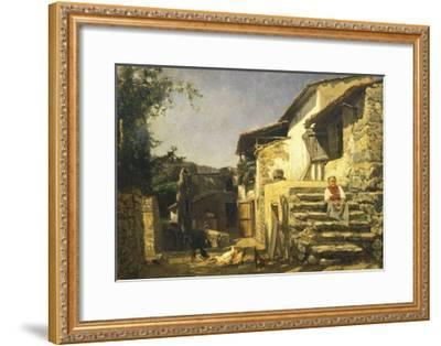 Colonial House in Sorrento, 1859-Filippo Palizzi-Framed Giclee Print