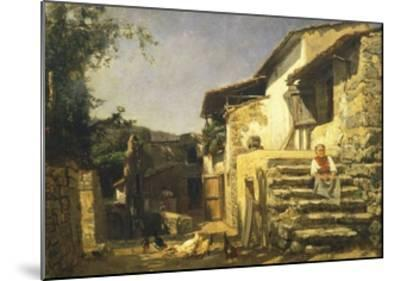 Colonial House in Sorrento, 1859-Filippo Palizzi-Mounted Giclee Print