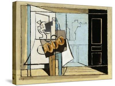 Monday, the Open Window; Lundi, La Fenetre Ouverte, 1929-Louis Marcoussis-Stretched Canvas Print
