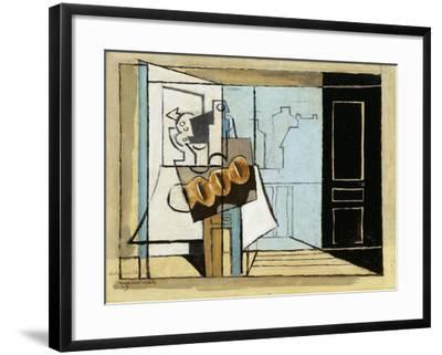 Monday, the Open Window; Lundi, La Fenetre Ouverte, 1929-Louis Marcoussis-Framed Giclee Print