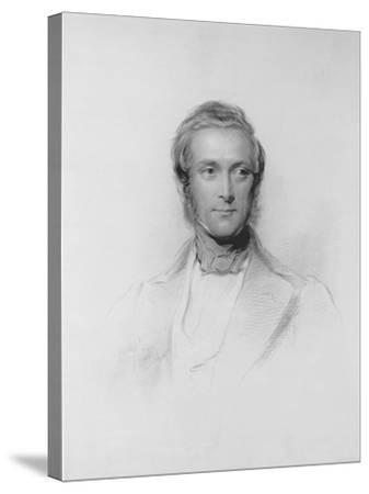 Portrait of James Ramsay, 10th Earl and 1st Marquess of Dalhousie-George Richmond-Stretched Canvas Print