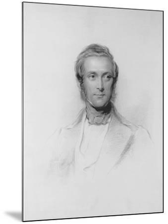 Portrait of James Ramsay, 10th Earl and 1st Marquess of Dalhousie-George Richmond-Mounted Giclee Print