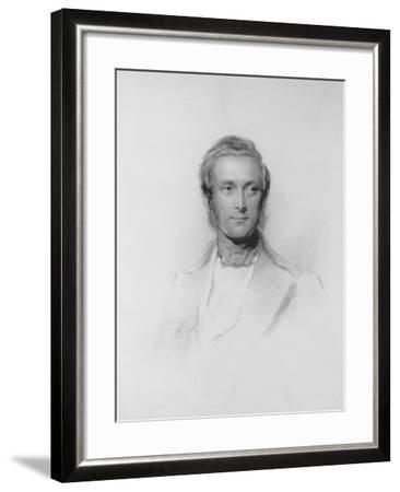 Portrait of James Ramsay, 10th Earl and 1st Marquess of Dalhousie-George Richmond-Framed Giclee Print