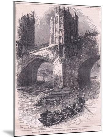 Flight of Queen Eleanor: Scene at London Bridge Ad 1263-Charles Ricketts-Mounted Giclee Print
