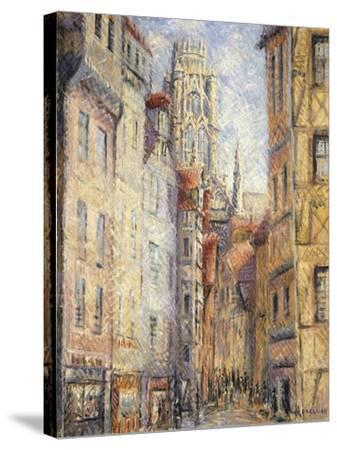 Rouen, a Street by the Church; Rouen, Rue Avec L'Eglise, C.1920-Gustave Loiseau-Stretched Canvas Print