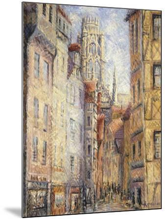 Rouen, a Street by the Church; Rouen, Rue Avec L'Eglise, C.1920-Gustave Loiseau-Mounted Giclee Print